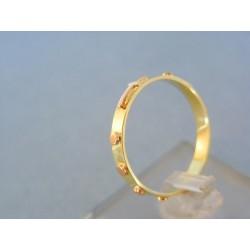 Zlatý prsteň ruženec žlté červené zlato VP59201V