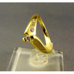Zlatý prsteň dámsky moderný tvar žlté zlato DP54290Z