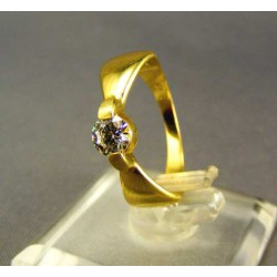 Zlatý dámsky prsteň so zirkónom žlté zlato DP54304Z