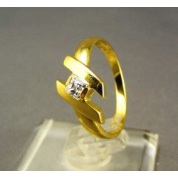 Zlatý dámsky prsteň so zirkónom žlté zlato DP53226Z