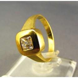 Zlatý dámsky prsteň so zirkónom žlté zlato DP56457Z