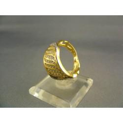 Zlatý dámsky prsteň moderný žlté zlato DP53492Z