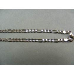 Zlatá retiazka biele zlato vzor figaro DR50682