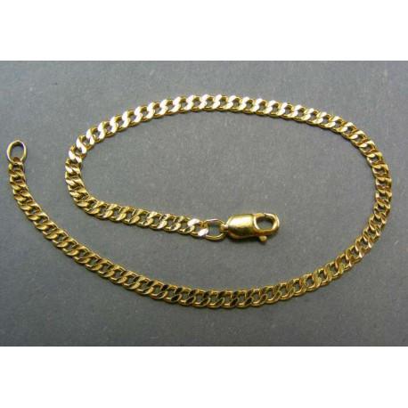 Zlatý náramok vzorovaný pancier