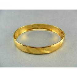 Zlatý náramok pevný žlté zlato s jemným vzorom DN1207Z