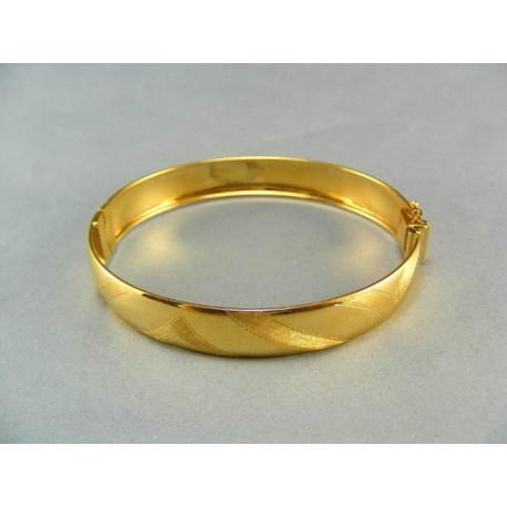 Zlatý náramok pevný žlté zlato