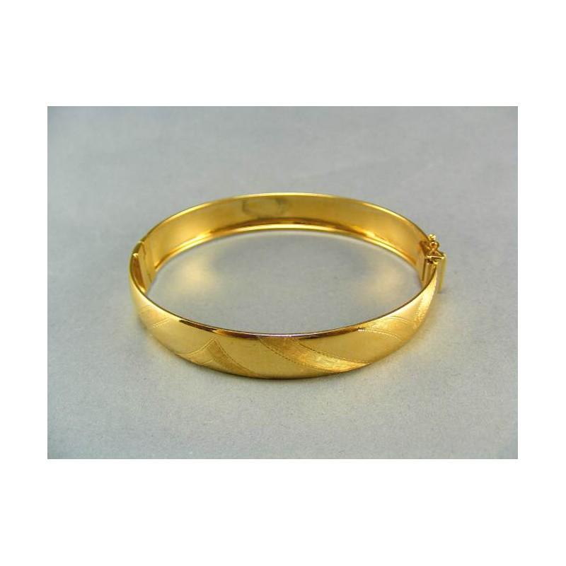 4aa012c68 Zlatý náramok pevný žlté zlato s jemným vzorom