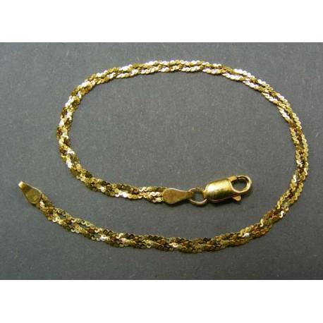 Zlatý náramok vzorovaný