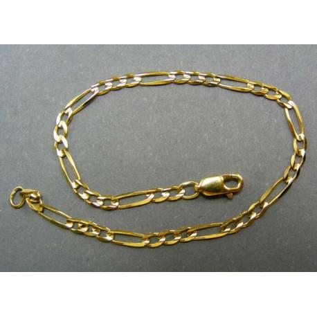 Zlatý náramok vzor figaro