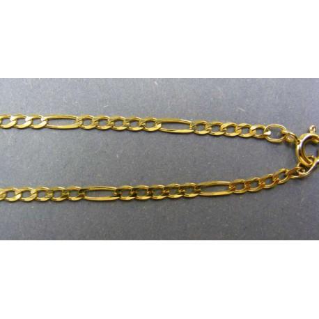 Zlatá retiazka žlté zlato tenká vzor figaro