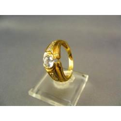 Zlatý dámsky prsteň so zirkónom žlté zlato VP57520Z