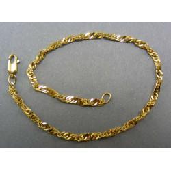 Zlatý náramok pre dámu točený DN22383