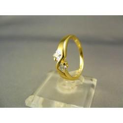 Zlatý prsteň žlté zlato kamienky zirkónu VP52255Z