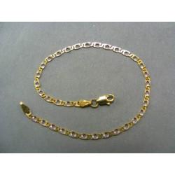 Zlatý náramok žlté a biele zlato vzor žiletka VN19223V
