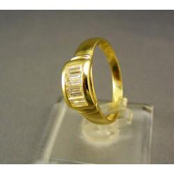 Zlatý prsteň so zirkónom žlté zlato DP57305Z