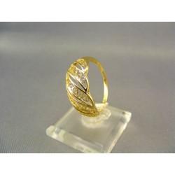 Zlatý prsteň vyrezávany žlté zlato VP64232Z
