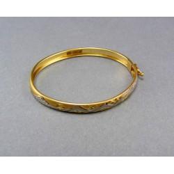 Zlatý náramok detský pevný so vzorom VN331D