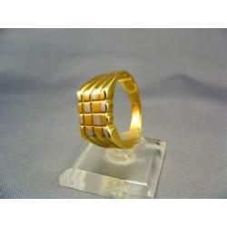 Zlatý pánsky prsteň pečatný viacfarebné zlato VP64703V