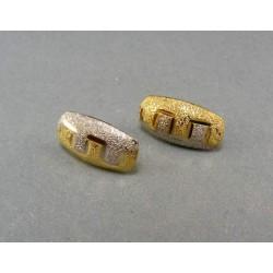 Zlaté náušnice dvojfarebné zlato gravírovane VA230/2