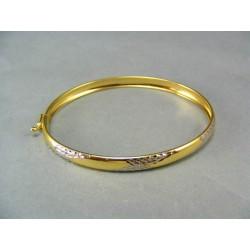 Zlatý náramok so vzorom pevný VN559V