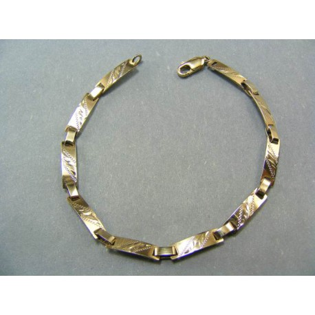 Zlatý náramok z bieleho zlata