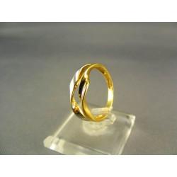 Zlatý dámsky prsteň jemný žlté biele zlato DP55285V