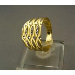 Zlatý prsteň elegantný viacfarebné zlato VP58321V