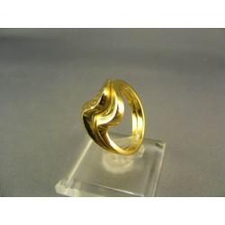 Zlatý prsteň s vlnami žlté zlato DP56446Z