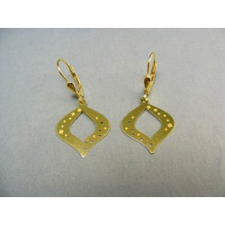 Zlaté náušnice visiace  žlté zlato VA243