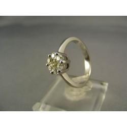 Diamantový prsteň biele zlato VD56444