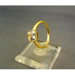 Zlatý dámsky prsteň s bielym zirkónom žlté zlato VP55260Z