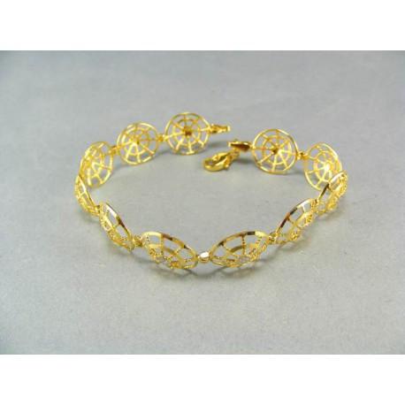 Luxusný dámsky zlatý náramok