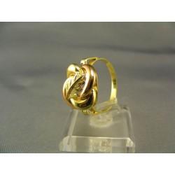 Zlatý dámsky prsteň v tvare ružičky žlté červené zlato VP62423V