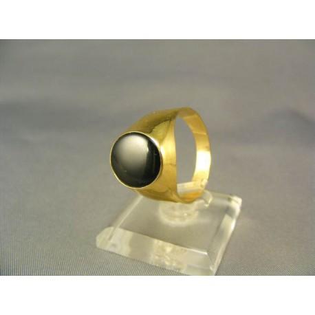 Pečatný zlatý pánsky prsteň s kameňom onyx