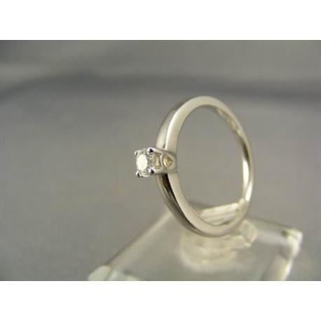Diamantový prsteň biele zlato