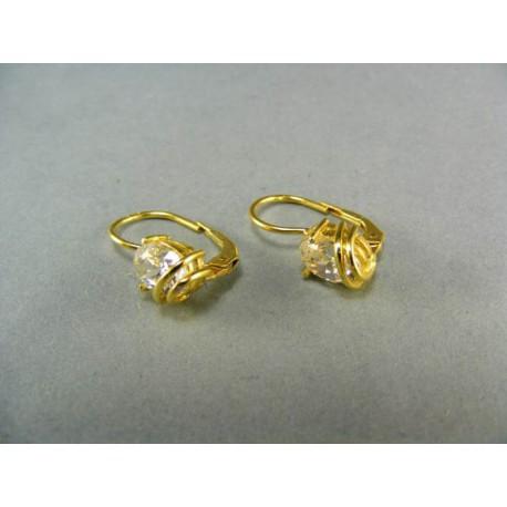 Zlaté náušnice s kamenmi