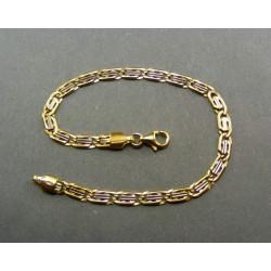 Zlatý náramok dvojfarebný VN18483V