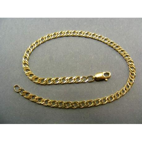 Zlatý náramok dvojitý vzor