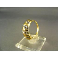 Zlatý dámsky prsteň viacfarebne zlata DP56279V
