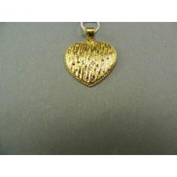 Zlatý prívesok srdce žlté zlato VI196Z
