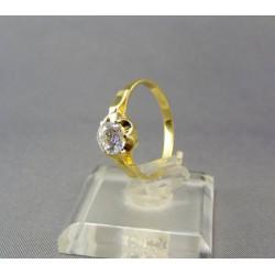 Zlatý dámsky prsteň so zirkónom VP57245