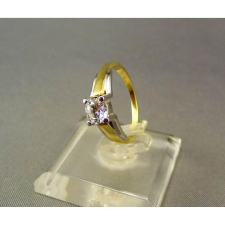 Dámsky prsteň viacfarebné zlato