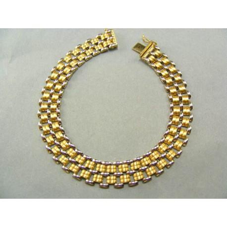 Široký zlatý náramok viacfarebný