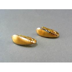 Zlaté náušnice z dvojfarebného zlata VA345