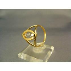 Zlatý prsteň dámsky žlté biele zlato VP57306V