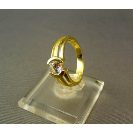 Zlatý dámsky prsteň žlté zlato