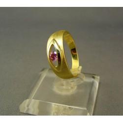 Zlatý dámsky prsteň farebný zirkón