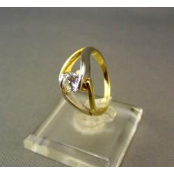 Zlatý prsteň dámsky viacfarebné zlato so zirkónom DP51400V