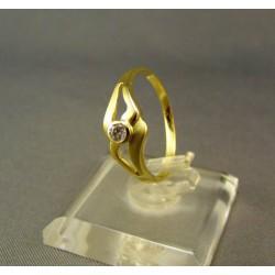 Zlatý prsteň žlté zlato so zirkónom DP56190Z