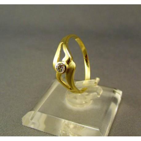 Dámsky prsteň žlté zlato so zirkónom